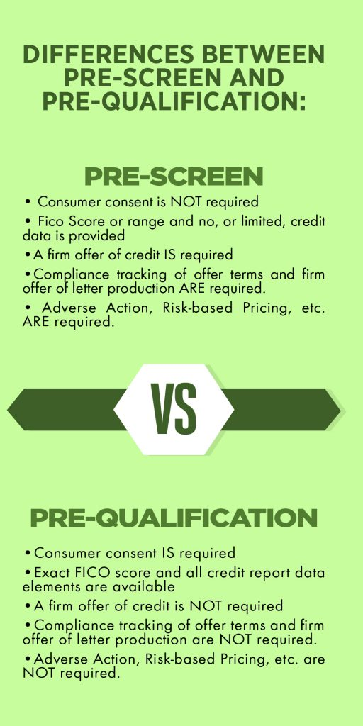 Differences Between Pre-Screen and Pre-Qualification: