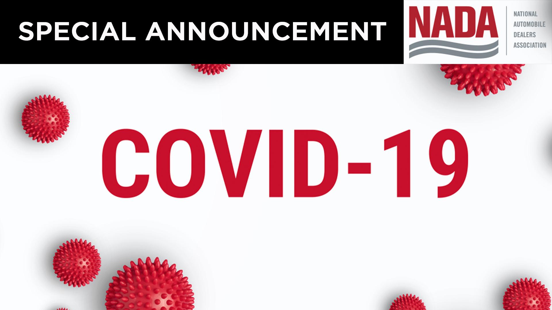 A Statement from NADA on the Coronavirus